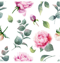 Watercolor hand painting seamless pattern vector