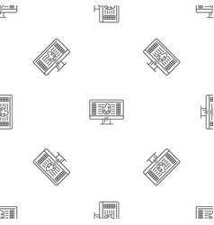 web drawing pattern seamless vector image