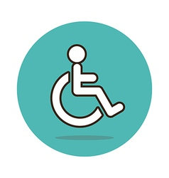 Wheelchair flat icon Medical vector