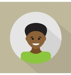 Young african - american flat design vector