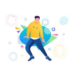 young guy dancer dance move hip-hop modern vector image