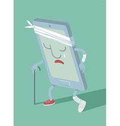 Broken sad smartphone vector image vector image
