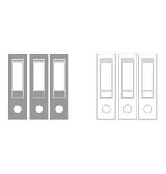 folders set icon vector image