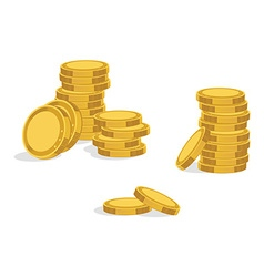 Golden coins icon vector image vector image