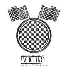 Race design vector image
