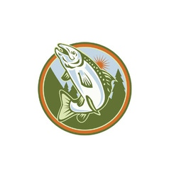 Trout Fishing Icon vector image