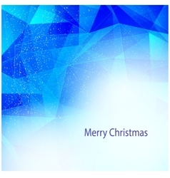 Winter background with triangle texture vector image