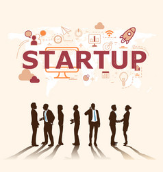 a group of businessmen plans for successful vector image