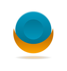 circle abstract isolated element for logo vector image vector image