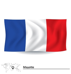 Flag of Mayotte vector image