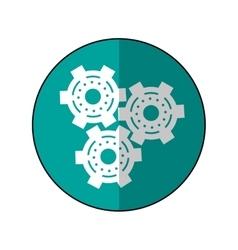 gear wheel engine cog icon shadow green vector image