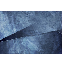 grunge material dark blue corporate background vector image vector image