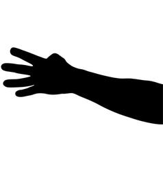 hand shadows vector image