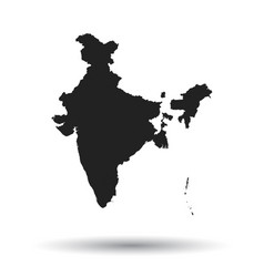 india map icon flat india sign symbol with vector image vector image
