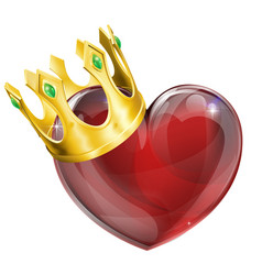 king of hearts concept vector image vector image