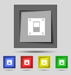 Power switch icon sign on the original five vector image