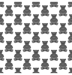 Toy bear seamless pattern vector image