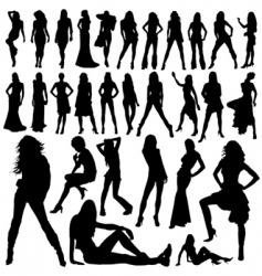 woman silhouette vector image vector image