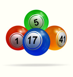 3d bingo lottery balls and shadow over white vector image vector image