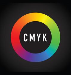 cmyk ink selector vector image