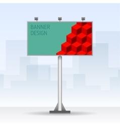 Outdoor billboard with cubes vector image vector image