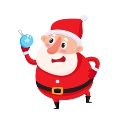 Cute and funny Santa Claus with Christmas tree vector image