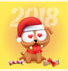 little dog puppy 2018 symbol vector image