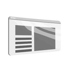 Newspaper icon black monochrome style vector image vector image
