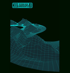 polygonal mesh acid green abstract background vector image vector image