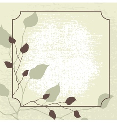 Retro styled background with brown leaves vector image vector image