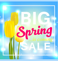spring is coming with big sale spring flower vector image