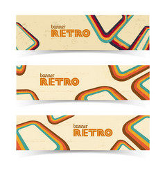 vintage horizontal banners vector image vector image