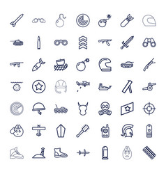 49 military icons vector