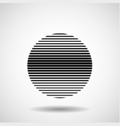 Abstract ball of stripes lines in circular form vector