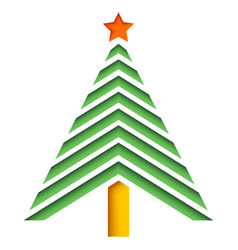 Abstract christmas tree from paper vector