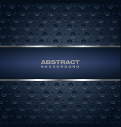 Abstract dark blue banner vector