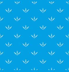 Abundant wheat pattern seamless blue vector