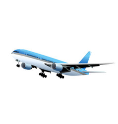 airplane isolated on white vector image