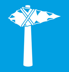 Ancient hammer icon white vector