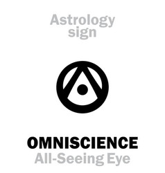 Astrology omniscience all-seeing eye eye of vector