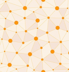 Atomic Background with Interconnected Yellow Dots vector
