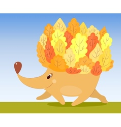 Autumn hedgehog vector image