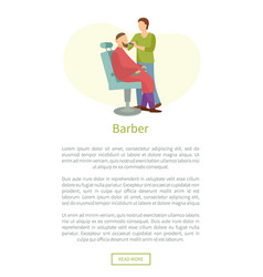 barber shop poster hairdresser cut or shave beard vector image