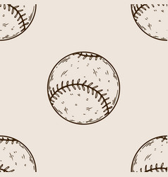 baseball equipment engraving vector image