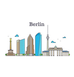 Berlin silhouette skyline panorama city landscape vector
