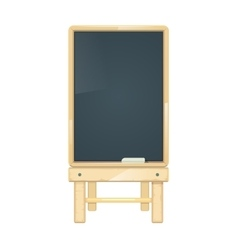 Blank menu board blackboard in wooden vector