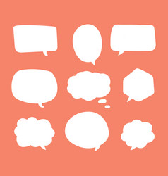 blank white speech bubbles thinking balloon talks vector image