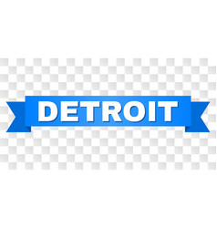 Blue tape with detroit title vector