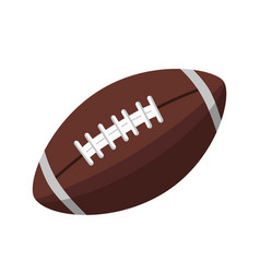 Brown leather ball for american football isolated vector