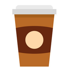 Brown paper coffee cup icon isolated vector